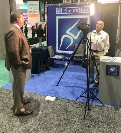 Filming RheumNow at ACR 17